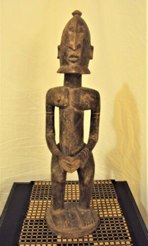 "OLD DOGON MAN 24"" Statue African Carving VERY HEAVY!!"
