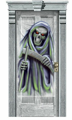 Decorate Halloween Party Cheap (Halloween Party Door Gore Decoration Grim Reaper cheap poster banner scene)