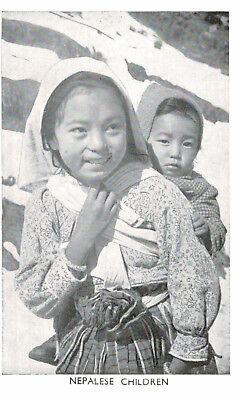 Nepal,Tibet,India,Nepalese Children,Ethnic,c.1950s