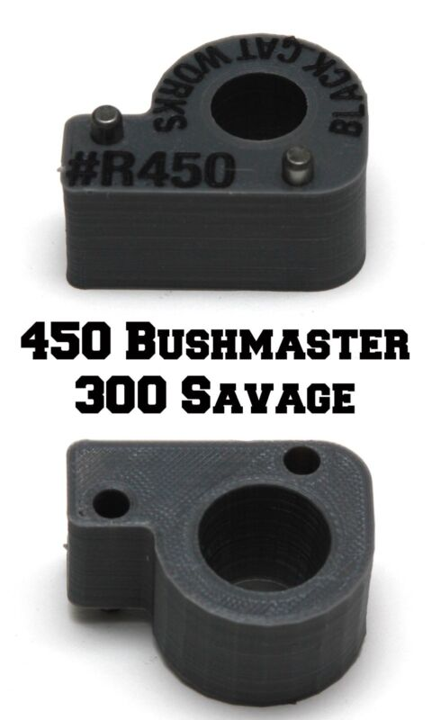 300 Savage 450 Bushmaster rifle pivot adapter for Hornady LNL Case Feeder
