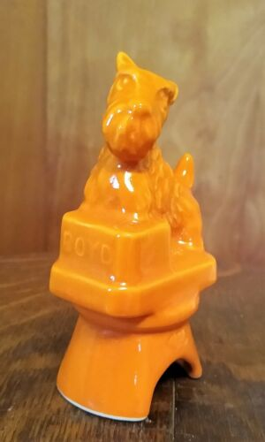 Boyd Glass Ceramic Scottie Puppy Dog Pie Bird Vent Pumpkin Orange
