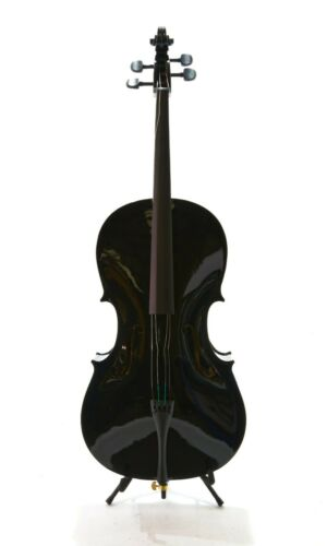 Student Full Size Cello with Case by Gear4music, Black-DAMAGED-RRP £229