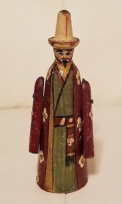 Antique Handpainted Mexican Man Figurine Figure Handpainted Unique movable arms
