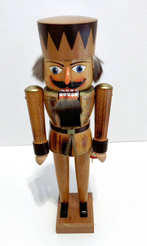 Vintage Nutcracker from Western Germany. Hand painted. Christmas.