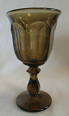 Imperial Old Williamsburg Nut Brown Water Goblet(s)