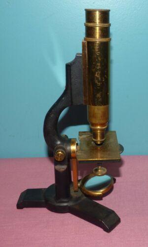 Antique James W. Queen Brass Microscope