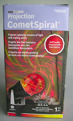 Halloween Lighting Lot of 2: Projection Comet Spiral & Whirl-A-Motion Ghosts