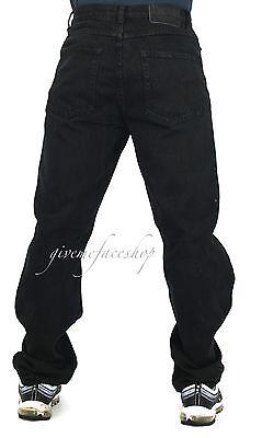 ab522798 ... Mens Georgio Peviani jeans, black g denim, straight fit urban hip hop  star loose ...