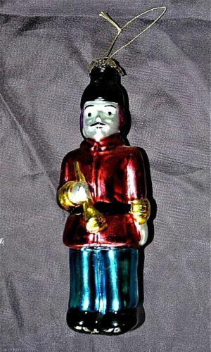 Soldier Ornament Trumpet Player Bugler Glass Ornament
