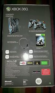 Limited Edition Halo 4 320GB Xbox 360 S Slim Console - 2 controllers + game NEW