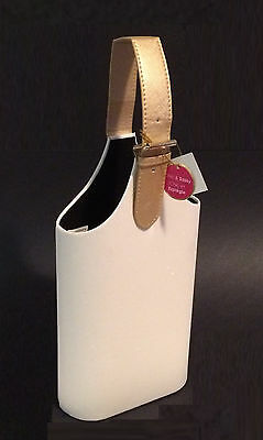 Wine Carrier Color (Glitter 2 Bottle Wine Carrier Tote With Champagne Color Handle - New With)