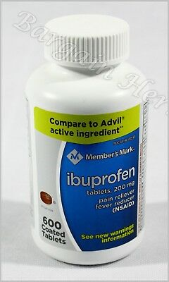 Members Mark Ibuprofen 200Mg Pain Fever Relief 600 Coated Tablets Free Shipping
