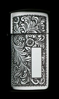 1988 Unlit Zippo Slim Venetian Engravable Lighter