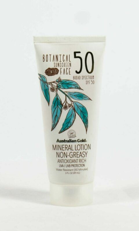 Australian Gold SPF 50 Botanical 3oz TINTED FACE Mineral Lotion SEALED 01/2022