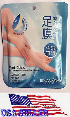 ROLANJONA Peel Foot Mask Exfoliating Baby Feet Remove Callus USA