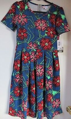 M LuLaRoe Amelia Disney Jack Skellington Flowers Nightmare Blue Red Pink Green for sale  Shipping to Canada