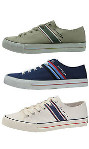 Tommy-Hilfiger-Herman-Natural-Navy-Blue-White-Casual-Fashion-Sneakers-Shoes