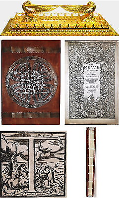 """1611 ANTIQUE 16"""" KING JAMES PULPIT HOLY BIBLE GOSPELS 1ST-ED Christian Jesus KJV for sale  USA"""