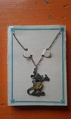 vintage 1930s disney mickey mouse necklace
