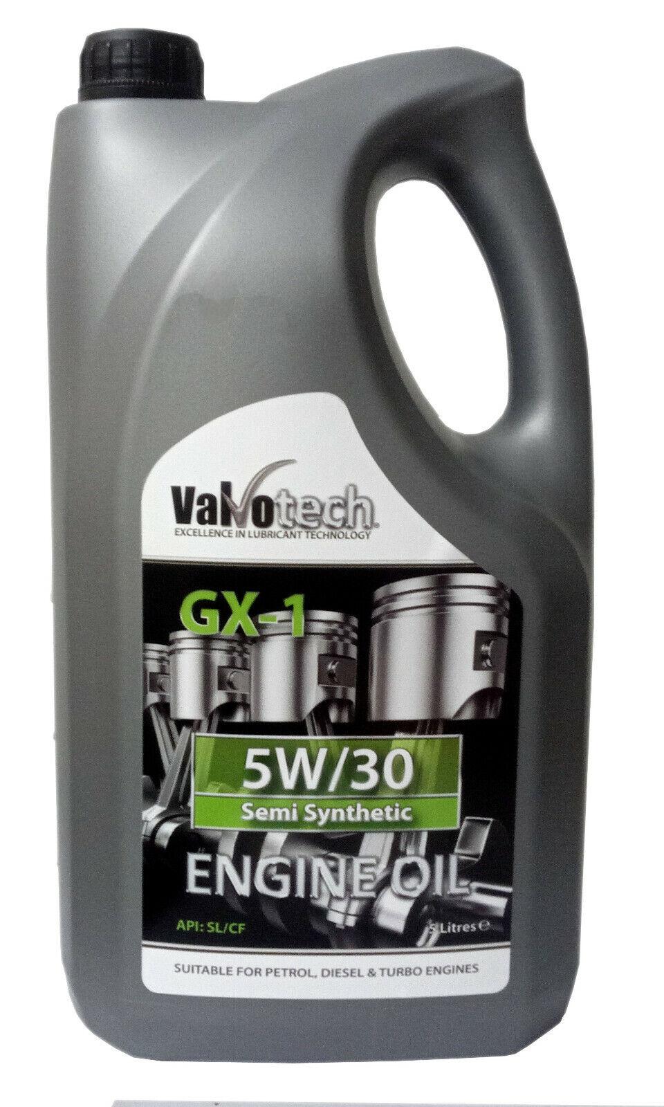 5W30 SEMI SYNTHETIC CAR VAN ENGINE OIL 5 LITRE 5L 5 30 5W 30 VALVOTECH