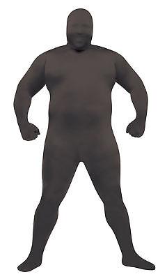Skin Full Body Suit Black Adult Costume Halloween Funworld Plus Size - Black Skin Suit Halloween