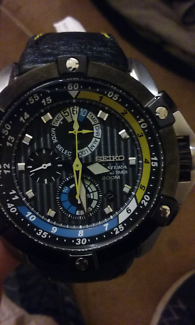 Seiko velaura men's watch new (SPC049P1)