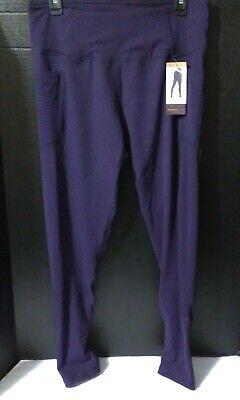 Z by Zobha Women Size L (12-14) ElevateActive Legging~High Waist~Eggplant~NWT