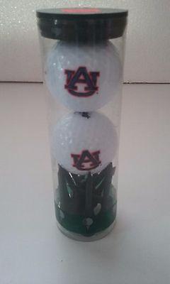 2 Golf Balls Set - Auburn Tigers 2 Golf Balls & Tees Set NCAA NIP SEC