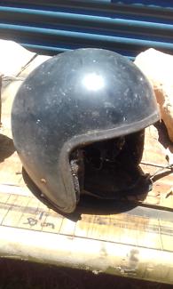 Old motorbike helmet
