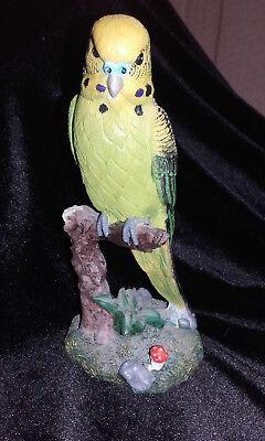 Resin budgerigar ornament