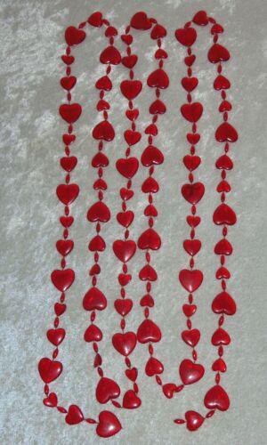 Vintage Sylvestri HEART GARLAND 8 feet Hong Kong Christmas Valentine