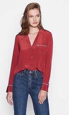 NWT Equipment Keira Silk Shirt Pinot Noir (Red) Size S $228