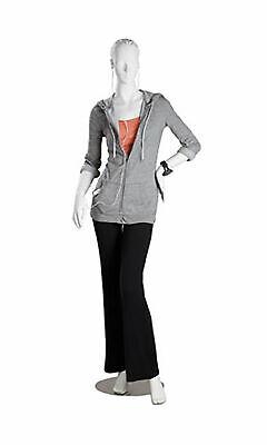 Mannequin Fiberglass Full Body Female Posing Metal Base Retail Clothing Display