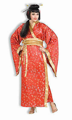 Womens Plus Size Madame Butterfly Deluxe Geisha Costume Asian Oriental - Plus Size Asian Costumes