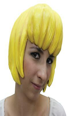 YELLOW LATEX COMIC CON ANIME CARTOON CHARACTER WIG COSTUME DRESS TB27306](Latex Wig)