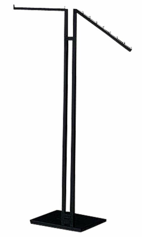 Clothing Rack - Black 2-Way - Straight & Slanted Arms