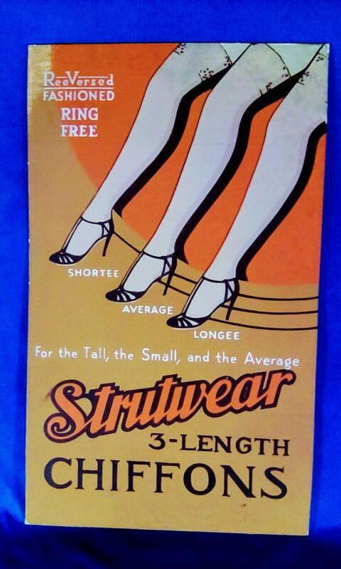 Advertising - Strutwear Chiffons - Vintage Cardboard Standup
