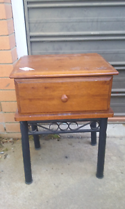 Mahogany bedside table Rochedale South Brisbane South East Preview