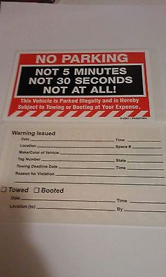 White no parking stickers item pk2057wh 50 to a pack