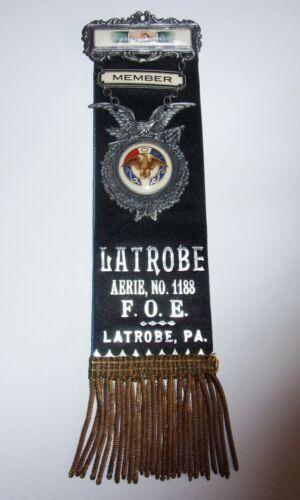 Vintage Fraternal Order of Eagles Aerie 1188 Latrobe PA Pin Amazing Shape