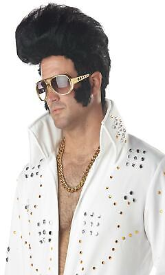 KING ROCK N ROLL ELVIS HIGH POMPADOUR ROCKABILLY SIDEBURNS COSTUME WIG CC70035 - High Roller Halloween Costume