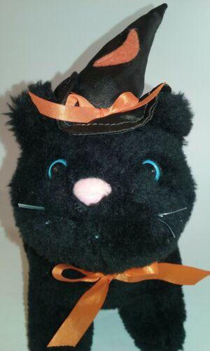Halloween plush black cat  Witch kitty