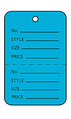 Perforated Tags Price 1000 Sale 1 X 1 Two Part Blue Unstrung Tag Small