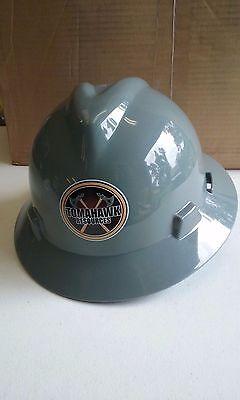 Msa 475367 V-gard Full Brim Tomahawk Hard Hat - Fas-trac Suspension - Gray
