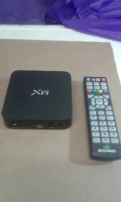 MX Android TV Box/ Remote - HDMI/USB 4 Ports/AV/Ethernet/SPDIF/SD MMC - Black for sale  Shipping to India