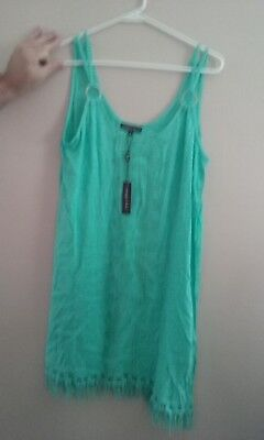 spiaggia dolce misses size s seafoam green swim suit coverup