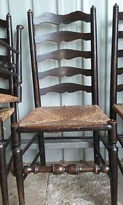 Antique ladder-back chairs Ben Lomond Guyra Area Preview