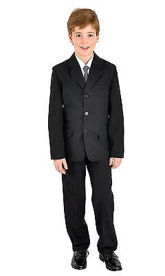 Details zu 5tlg Kinderanzug Kommunionsanzug Jungen Anzug Hochzeit Firmung schwarz 152158