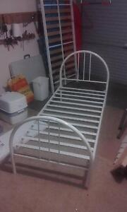 Steel framed single bed - White Petrie Pine Rivers Area Preview