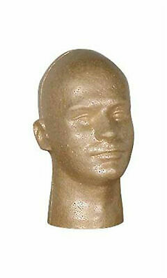 Male Suntan Styrofoam Mannequin Head - 11 12 Height - Beauty Supply Standard